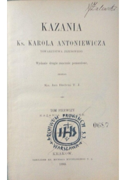 Kazania Misyjne,1893 r.