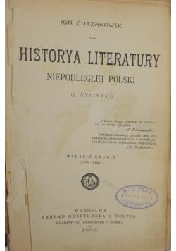 Historya Literatury Niepodległej Polski, 1908 r.