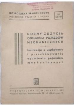 Normy zużycia ogumienia pojazdów mechanicznych. 1949 r.