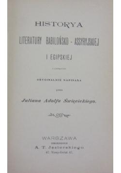 Historya literatury powszechnej, 1901 r.