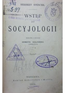Wstęp do socyjologii, 1884r.
