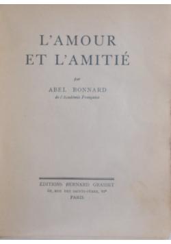L'amour et l'amitie, 1939 r.