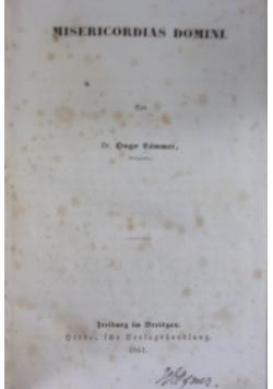 Misericordias domini, 1861r.