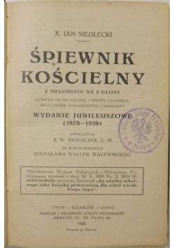 Śpiewnik Kościelny, 1928 r.