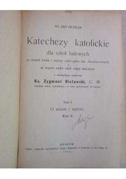 Katechezy katolickie dla szkół ludowych, Tom I, 1931 r.