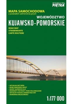 Województwo Kujawsko-Pomorskie 1:177 000 mapa