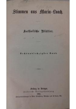 Stimmen aus Maria-Laach katholische Blätter, 1904 r.