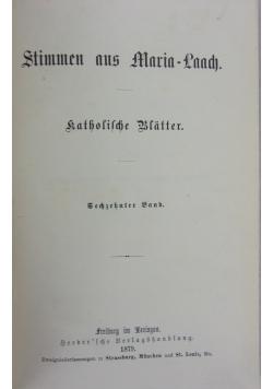 Stimmen aus Maria-Laach: Katholische Blatter, 16. Band,1879 r.