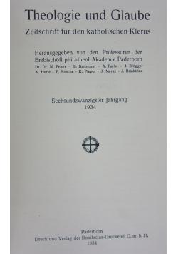 Theologie und Blaube, 1936r.