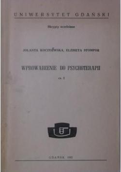 Wprowadzenie do psychoterapii, cz I