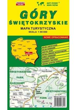 Góry Świętokrzyskie 1:90 000 mapa turystyczna