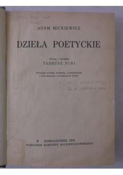 Dzieła poetyckie, 1935 r.