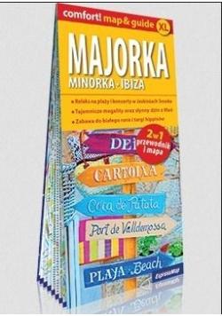 Comfort! map&guide XL Majorka, Minorka, Ibiza 2w1