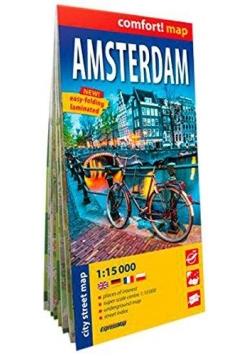Comfort!map Amsterdam, 1:15 000 plan miasta