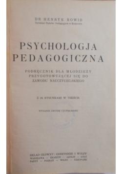 Psychologja pedagogiczna, 1930 r.