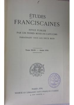 Etudes Franciscaines, Tom XLI, 1929r