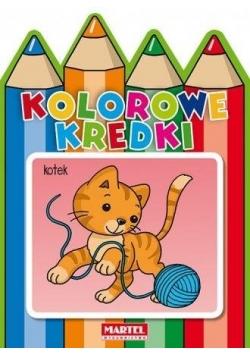 Kolorowe kredki - Kotek