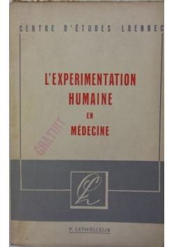 L'expérimentation humaine en médecine