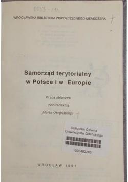 Samorząd terytorialny w Polsce i w Europie