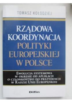 Rządowa koordynacja polityki europejskiej w Polsce