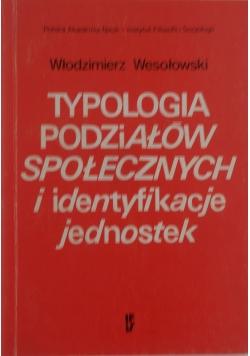 Typologia podziałów społecznych i identyfikacji jednostek