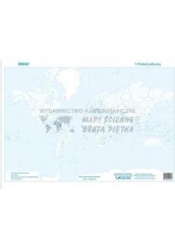 Zestaw - Świat mapa konturowa (20szt)