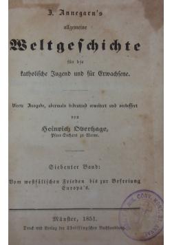 Weltgeschichte, 1851r.