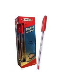 Długopis Today's Trix czerwony (10szt) NOSTER