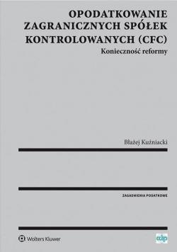 Opodatkowanie zagr. spółek kontrolowanych (CFC)
