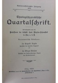 Therologisch=praktische Quartalschrift. 1924r.