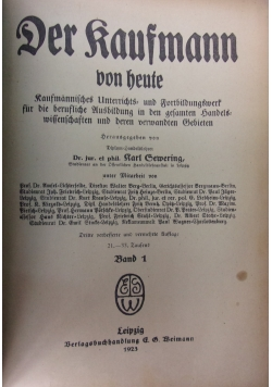 Der Kaufmann von heute, 1923 r.
