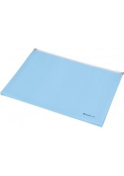 Koperta Focus z suwakiem płaska A4 C4604 niebieska