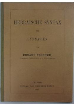 Hebraische syntax fur gymnasien, 1892 r.