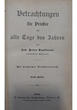 Betrachtungen fur Prielter alle Tage des Jahres, 1896 r.