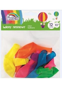 Balony Neon 10'' mix 12 sztuk FIORELLO