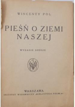 Pieśń o ziemi naszej,1924r.