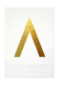 Pismo Święte Nowy Testament złoty tłoczony w.2018