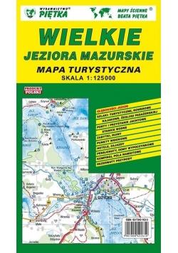 Wielkie Jeziora Mazurskie 1:125 000 mapa turyst.