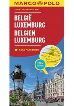 Mapa ZOOM System.Belgia,Luxemburg  plan miasta