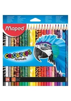 Kredki Colorpeps Animal 24 kolory MAPED