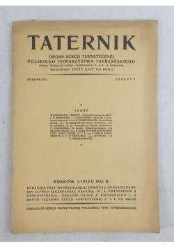 Taternik rocznik XVI, 1932
