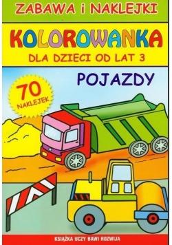 Kolorowanka dla dzieci od lat 3. Pojazdy
