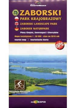 Zaborski Park Krajobrazowy mapa turystyczna 1:50 000