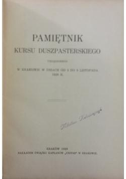 Pamiętnik kursu duszpasterskiego, 1929 r.