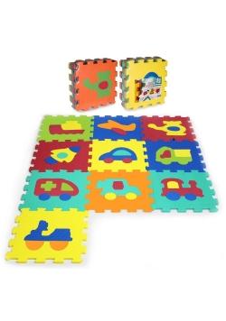 Puzzle piankowe 10 elementów Pojazdy
