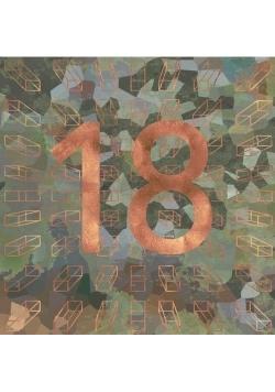Karnet kwadrat z kopertą Urodziny 18