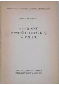 Narodziny powieści poetyckiej w Polsce
