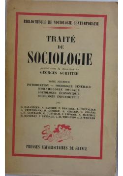 Traite de sociologie