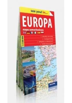See you! in.. Europa. Mapa samochodowa 1: 4500000