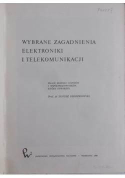 Wybrane zagadnienia elektroniki i telekomunikacji